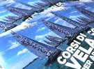 """Realizzazione di un pieghevole quadrato per i Corsi di Vela FIV, a Venezia. Piccolo depliant per presentare i corsi di vela tenuti dalla scuola in collaborazione con la """"Compagnia della Vela"""". Impaginazione Depliant, Graphic Design, Officina11 Studio, Comunicazione, Vicenza."""