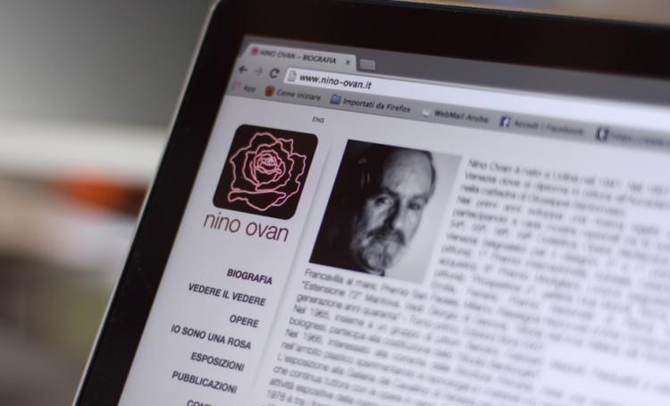 Nino Ovan Web Site. Nuovo layout e nuovo design per l'artista Nino Ovan.