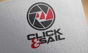 Logo Click & Sail, progettazione grafica, graphic design, logo design, stampa