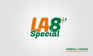 """Nuovo logo per la farina """"LA 48 Special"""", di Cereal Docks."""