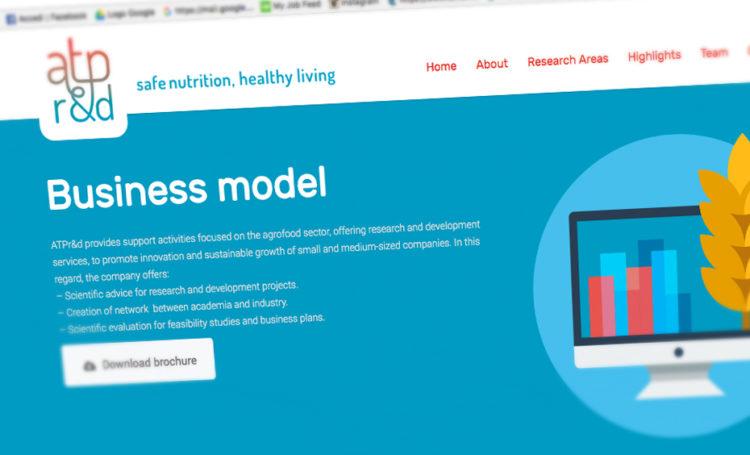 Nuovo sito, ATPr&d, web design, graphic design