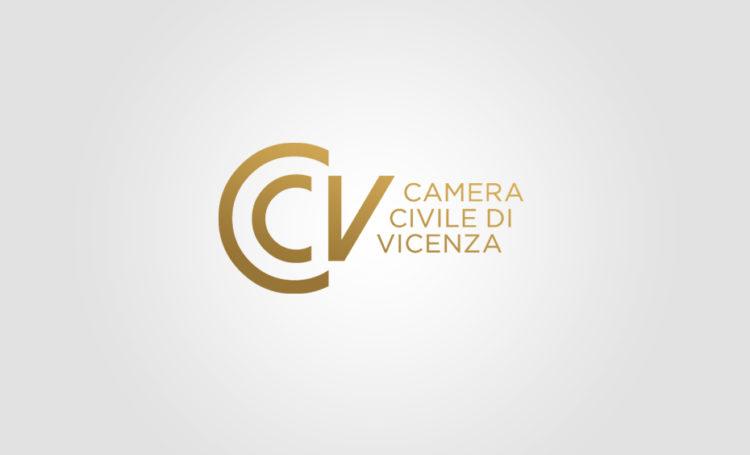 Progettazione logo per Camera Civile di Vicenza, graphic design