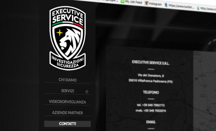 Executive Service, Web Site, Immagine coordinata, logo design, grafica