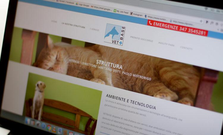 Progettazione web, VetBase, web design, graphic design